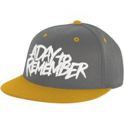 A Day To Remember Men's  Grey And Orange Snapback Baseball Cap Orange