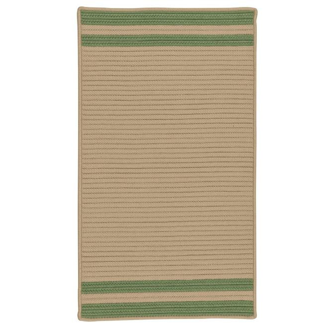 Colonial Mills Rug DE45R036X060S Denali End Stripe Braided Area Rug  Moss Green - 3 x 5 ft. - image 1 of 1