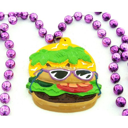 Cheeseburger Bourbon Street Mardi Gras Beads New Orleans Bayou Lousianna Cajun Creole Party, Genuine Authentic Mardi Gras Theme Beads- Ship from US - Mardi Gras Float Themes