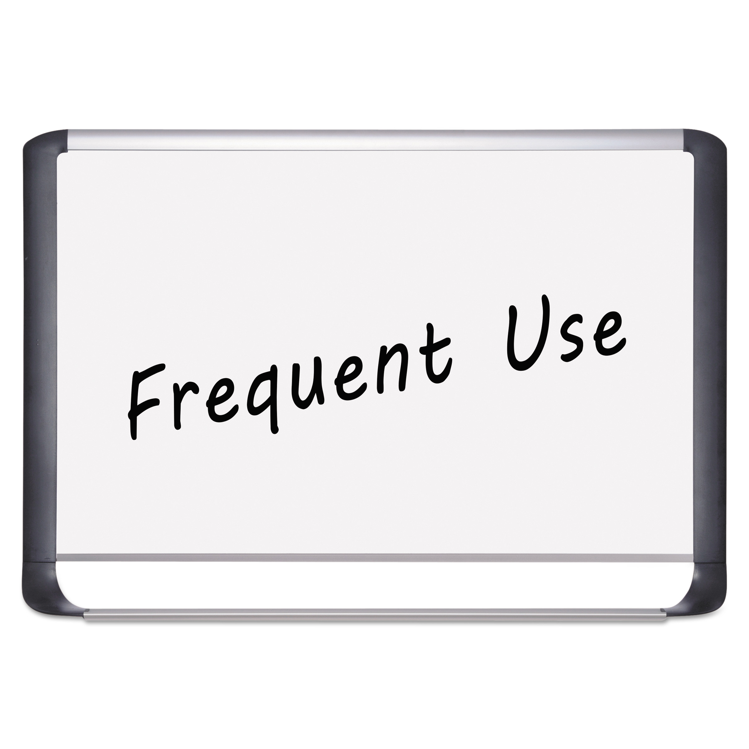 MasterVision Lacquered steel magnetic dry erase board, 36 x 48, Silver/Black