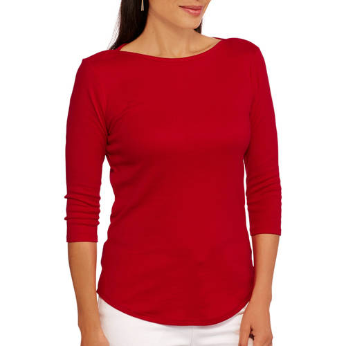 Faded Glory Women's Classic Boatneck Top