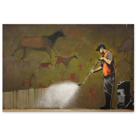 Awkward Styles Banksy Wall Art Banksy Art Graffiti Removal by Banksy London Street Art Banksy Fans Gifts British Street Art Unframed Art Poster Banksy Graffiti Wall Art Dining Room Decor Ideas Find a perfect gift for an art lover with our Banksy Art Printed Poster Collection!
