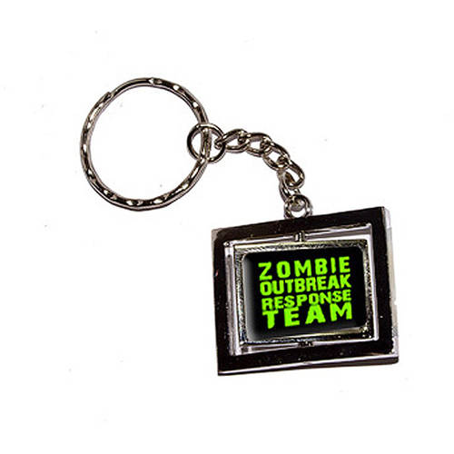 Zombie Outbreak Response Team Green New Keychain Ring