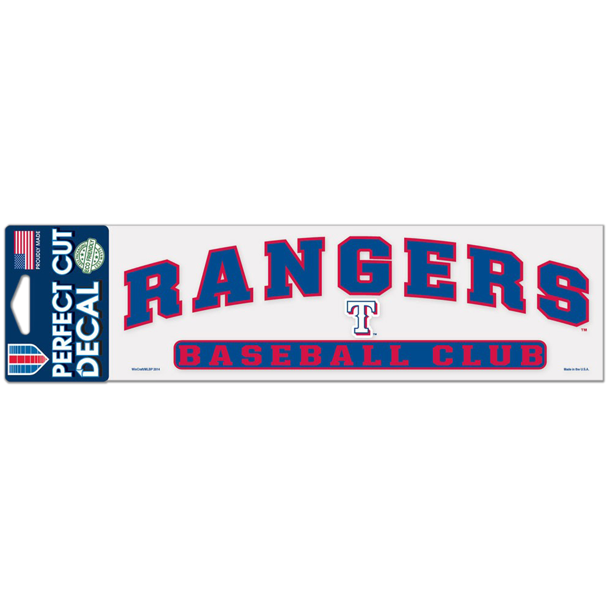 """Texas Rangers WinCraft 3"""" x 10"""" Arch Perfect Cut Decal - No Size"""