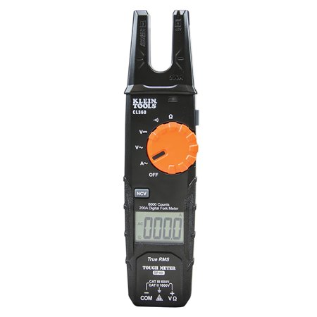 Klein Tools CL360 Open Jaw Fork Meter - 200a - Ac