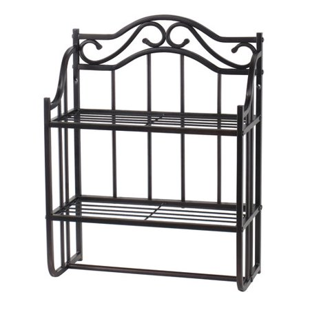 Chapter 2 Tier Decorative Metal Bathroom Wall Shelf Bronze