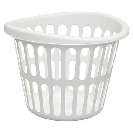 LN0275 White Laundry Basket, Plastic