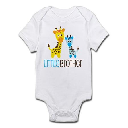 Giraffe Little Brother Infant Bodysuit - Baby Light - Giraffe Onesie Men