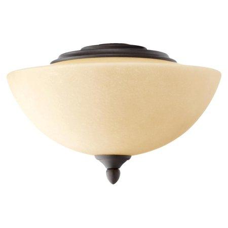Two Light Oiled Bronze Amber Scavo Glass Fan Light Kit ()