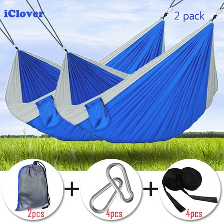Sleeping Bags Portable Camping Hammock Parachute Nylon Cloth Sleeping Swing Hammock For Outdoors Backpacking Travel Beach Sports & Entertainment