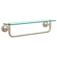 "Better Homes & Gardens Safford 18"" Glass Shelf With Towel Bar, Satin Nickel"
