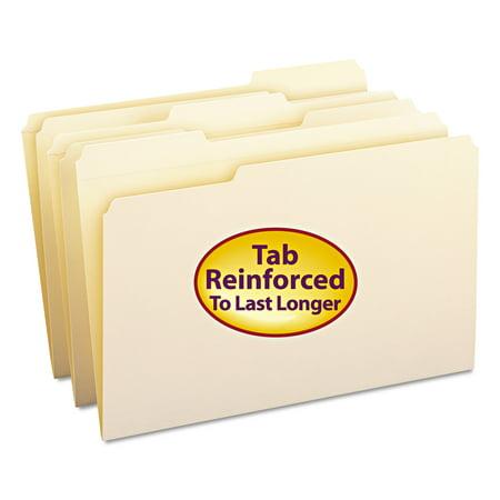 Smead Manila File Folder, Reinforced 1/3 Tab, Legal Size, 100/Box](Legal Size File Folders)