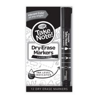 Take Note! 12ct. BL Dry Erase Markers in Black