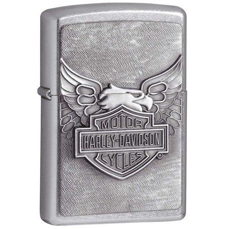 Zippo Lighter 20230 Harley-Davidson Eagle Classic Style Emblem Street Chrome Pocket (Emblem Lighter Free Gift)