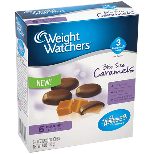Whitman's Weight Watchers Bite Size Caramels, 1 oz, 6 count