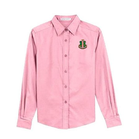 d19654a51 Express Design Group - Alpha Kappa Alpha Sorority Long-Sleeve Button ...