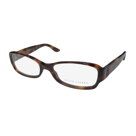 New Ralph Lauren 6078b Womens/Ladies Designer Full-Rim Havana Frame Demo Lenses 52-16-135 Strass Eyeglasses/Eye (Ralph Lauren Glasses For Women)