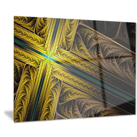 DESIGN ART Designart 'Intricate Multi-colored Cross' Digital Art Metal Wall Art