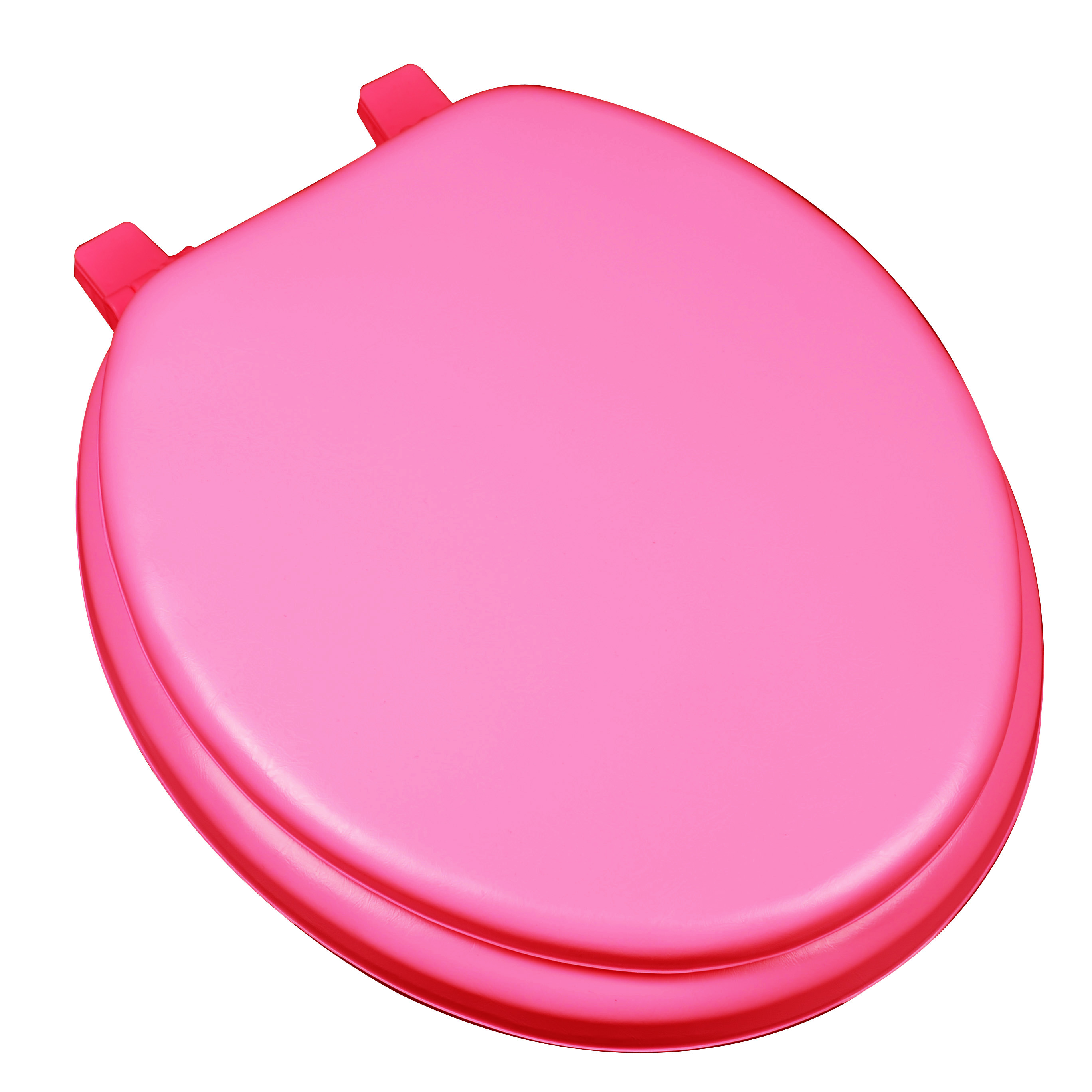 BathDecor Deluxe Soft Round Toilet Seat with a Closed Front in Red.