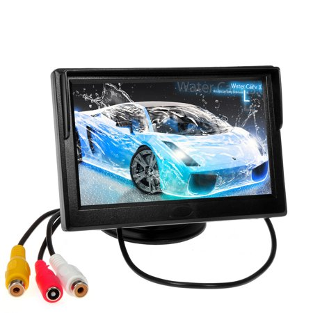 Hd 5 Inch Tft Lcd Car Camera Monitor New Hot Sale Full Lcd Display Touch Screen Hd Monitor With 2Av Input Rearview For Car Backup Camera