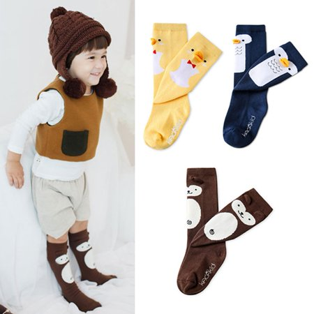 Baby Kids Toddler Girls Cartoon Knee High Socks Tights Leg Warmer Stockings 0-4Y