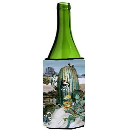 Cactus Flowers Wine Bottle Beverage Insulator Hugger JMK1205LITERK ()