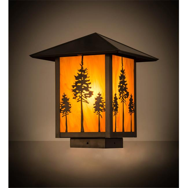 Meyda Tiffany 179934 9 in. Square Great Pines Deck Light,...