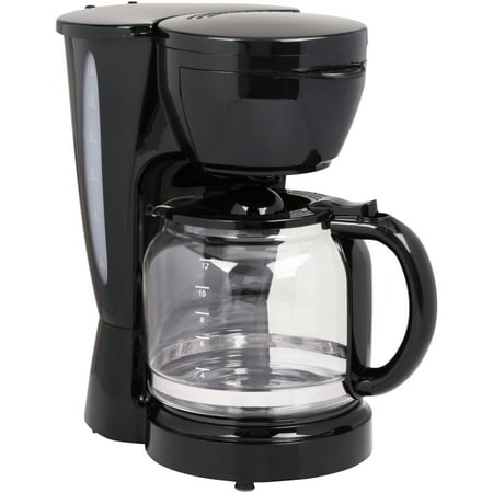 Mainstays Rich Black 12 Cup Coffee Maker Walmartcom