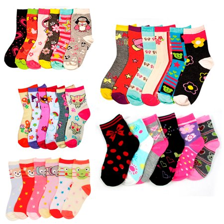 3 Pair Girls Toddler Socks Size 2-3 Mixed Assorted Design Colors Fashion 2T 3T ! - Toddler Sizes 2t