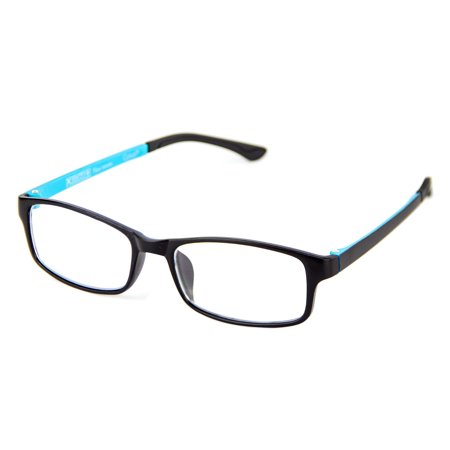 Blue Eyewear (Cyxus Lightweight Computer Gaming Glasses for Blocking Blue Light UV Anti Eyestrain, Rectangle Frame Men/Women)