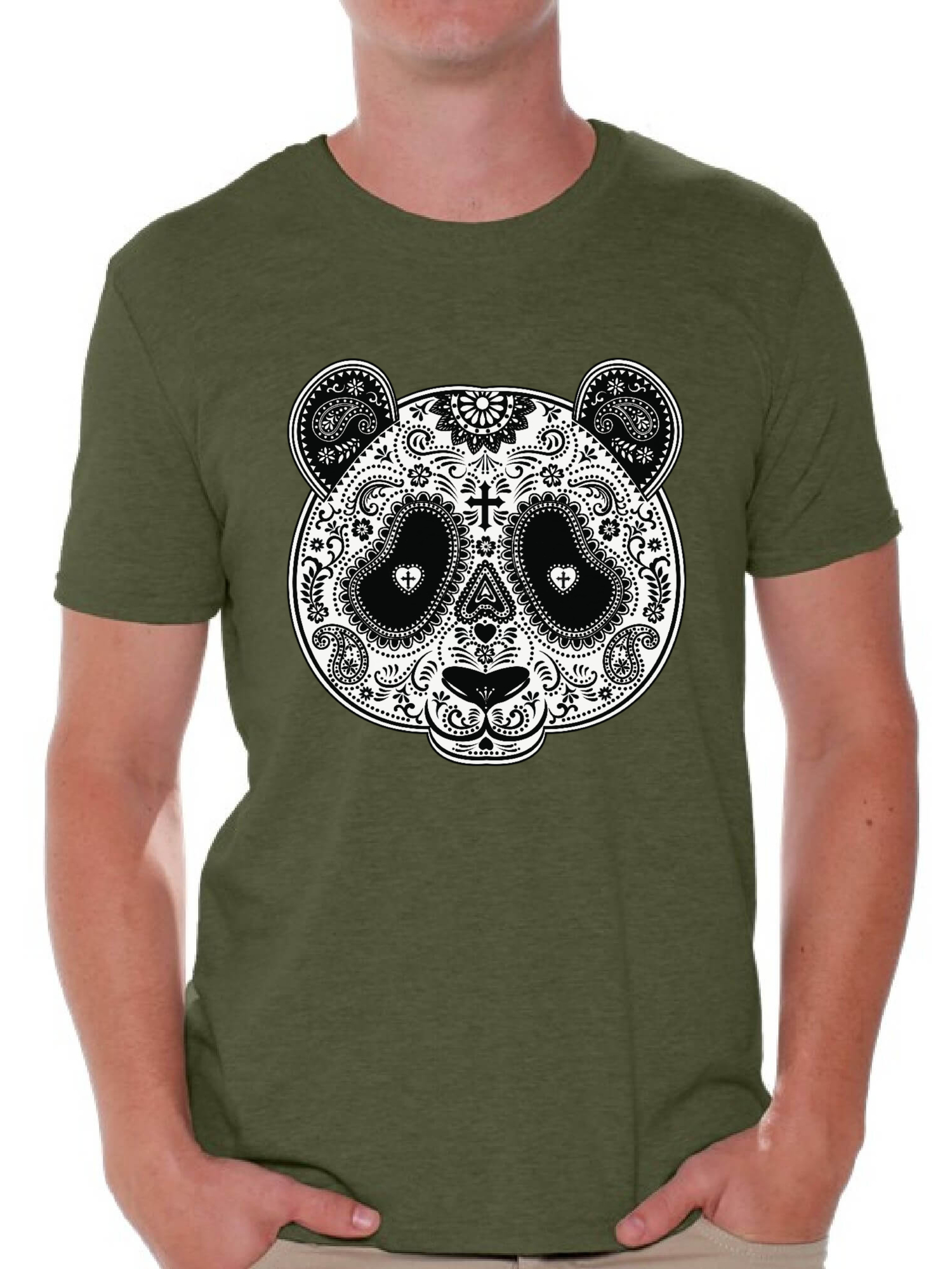 Sugar Skull Panda Women/'s T-Shirt Day of the Dead Dia De Los Muertos Halloween