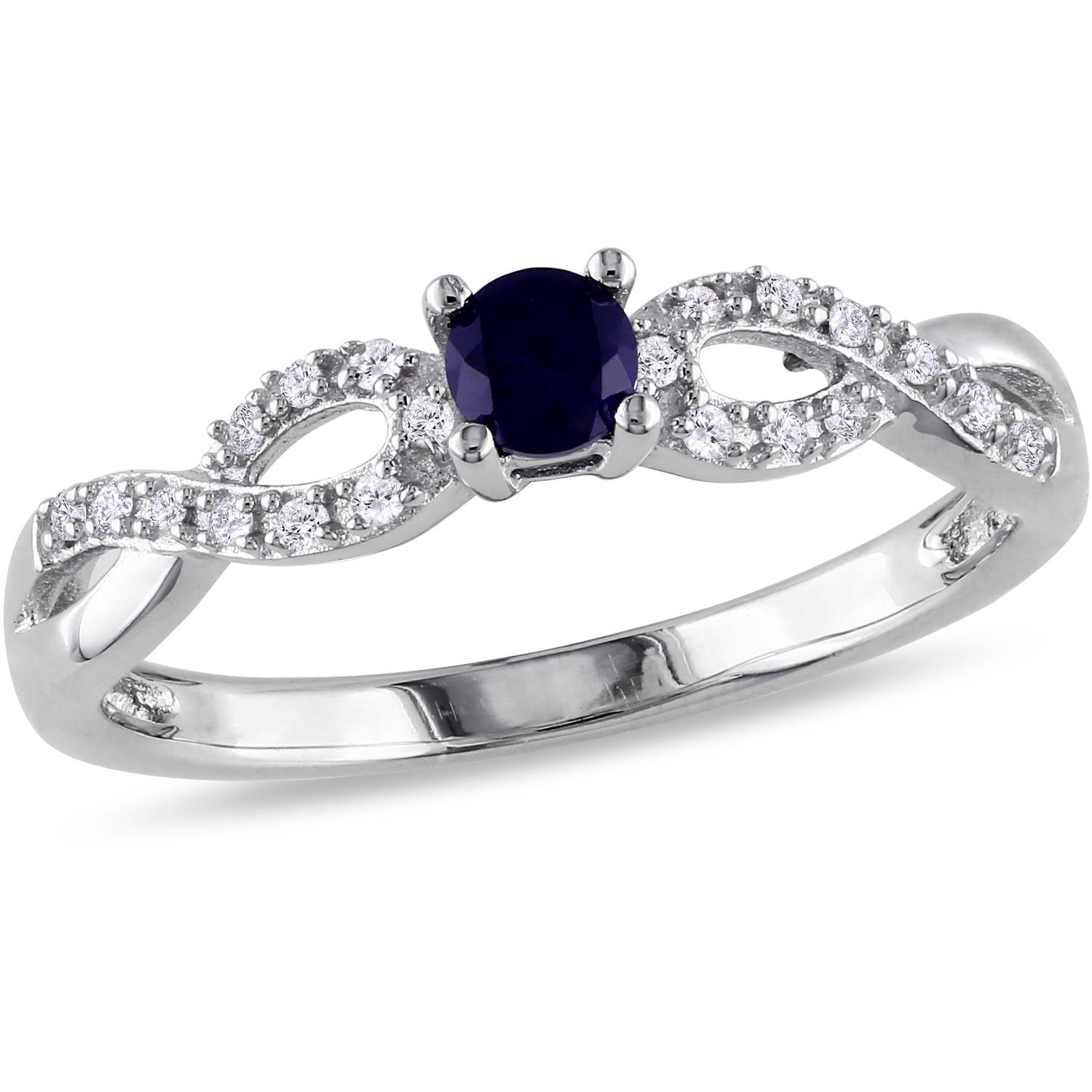 Tangelo 1 5 Carat T G W Created Blue Sapphire and Diamond Accent