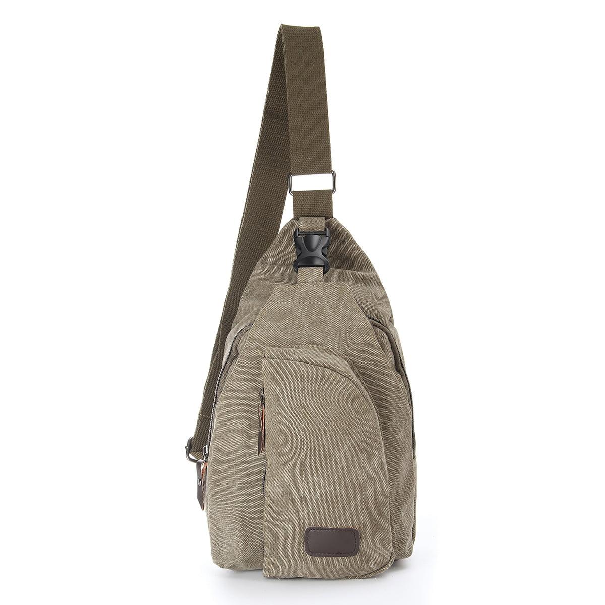 58f5db5d209 Military Vintage Men Canvas Satchel Casual Cross Body Messenger Shoulder  Bag Outdoor Sport Hiking Cross Body Satchel Bag Chest Pack Sling Backpack