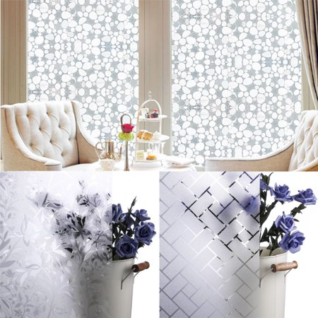 3D Static Glass Films Window Privacy Film Self Adhesive Decorative Sticker UV Protection 17 x 78