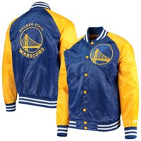 Golden State Warriors Starter Point Guard Satin Full-Snap Jacket - Royal/Gold