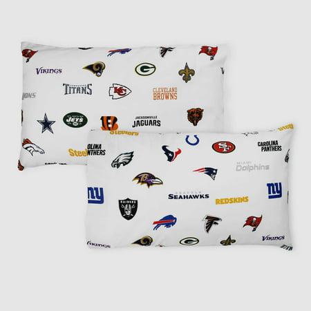 Football Bedding - 2pc NFL League Pillowcase Set All Teams Football Bedding Pillow Covers