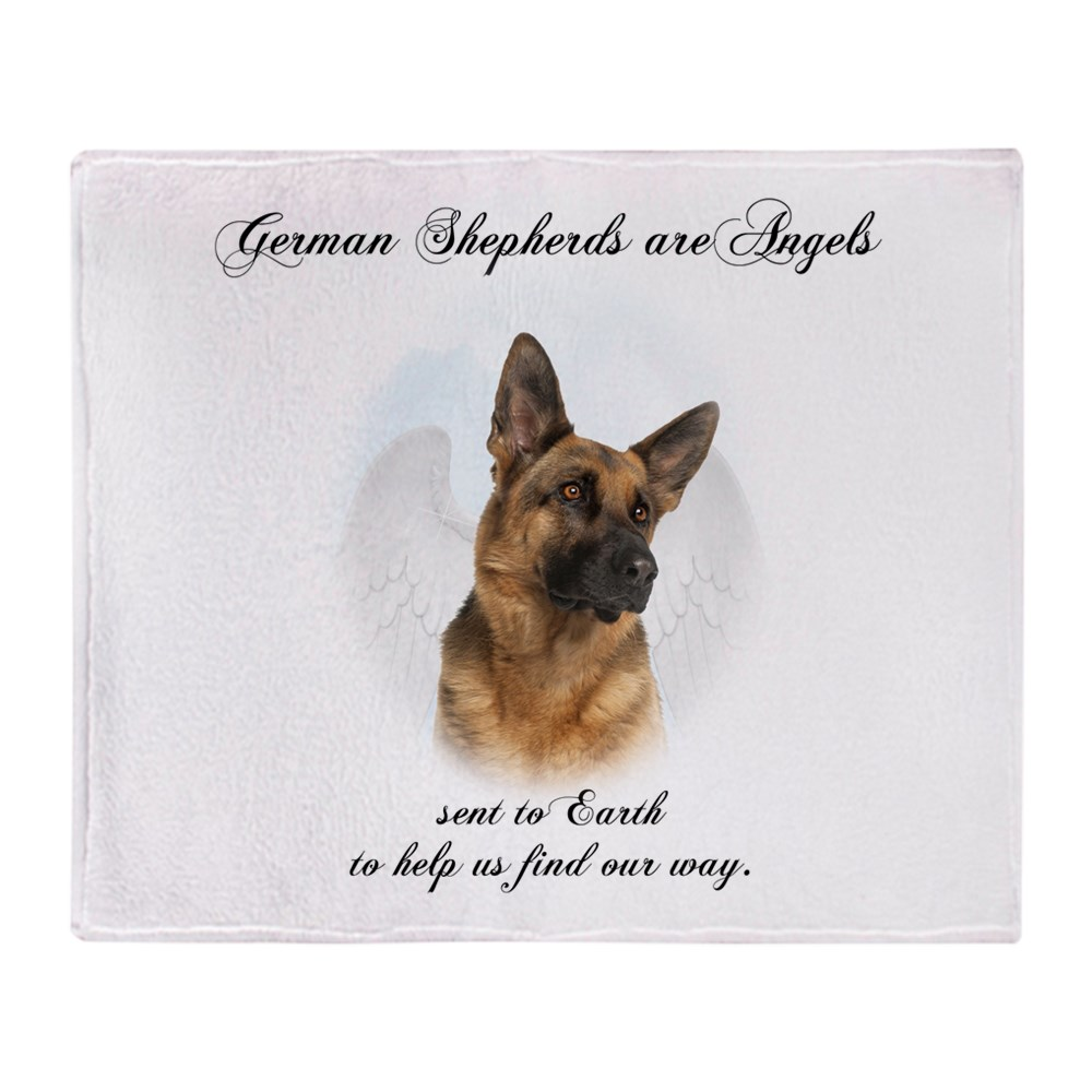 "CafePress German Shepherd Angel Soft Fleece Throw Blanket, 50""x60"" Stadium... by"