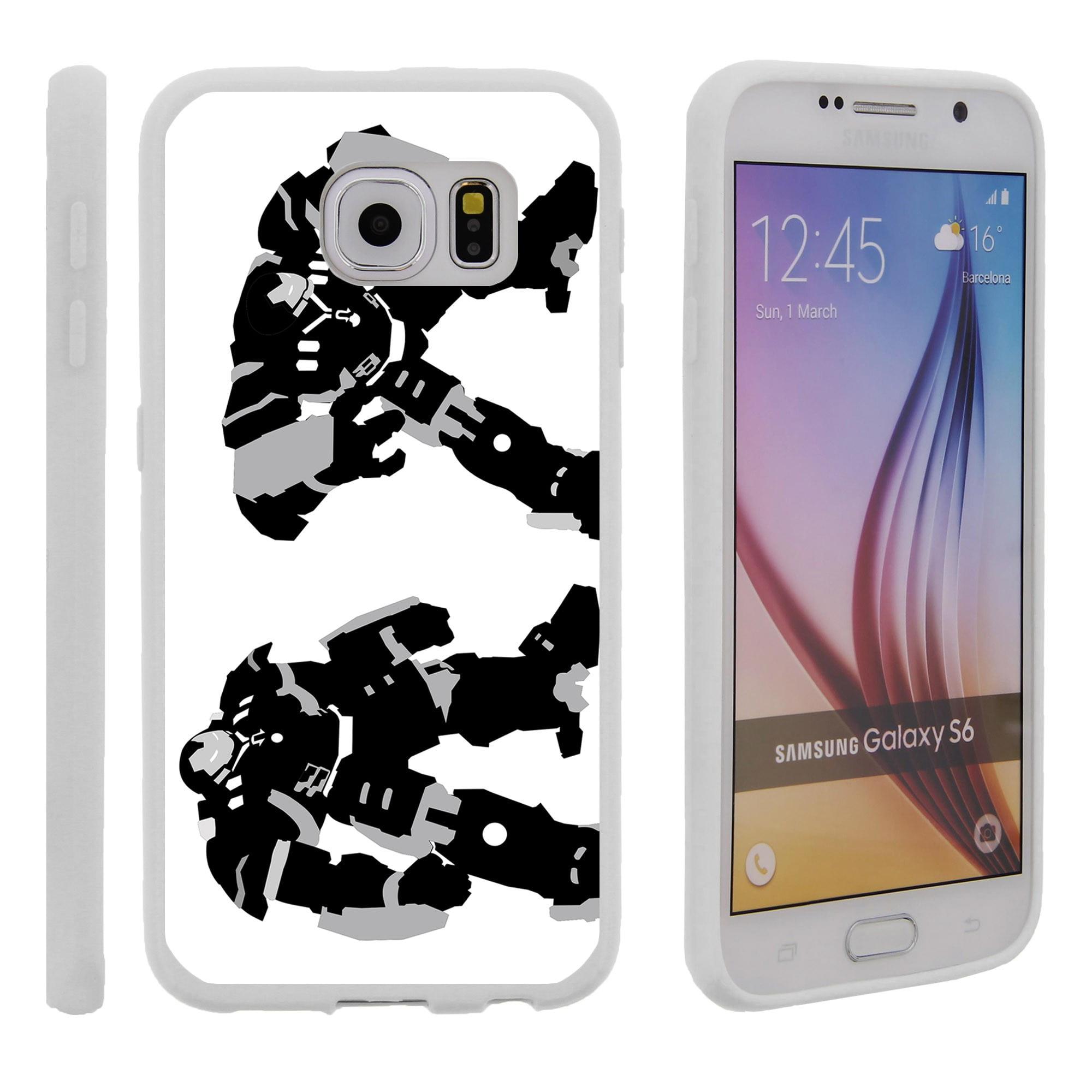 Samsung Galaxy S6 G920, Flexible Case [FLEX FORCE] Slim Durable TPU Sleek Bumper with Unique Designs - Big Iron Man