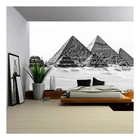 wall26 - The Pyramids of Giza, Cairo, Egypt; The Oldest of The Seven Wonders of The Ancient World - Removable Wall Mural | Self-Adhesive Large Wallpaper - 66x96
