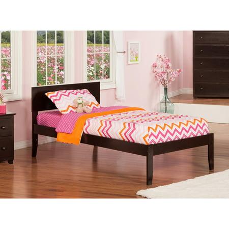Atlantic Furniture Orlando Espresso Wood Twin Open Foot Platform Bed ()