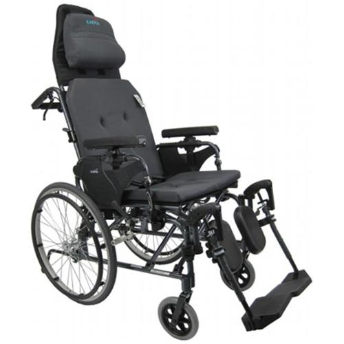 Karman Healthcare MVP502-20W Premium Reclining Wheelchair-Diamond Black