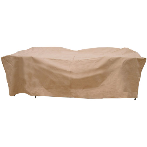 sure fit deluxe rectangle tablechair set cover taupe