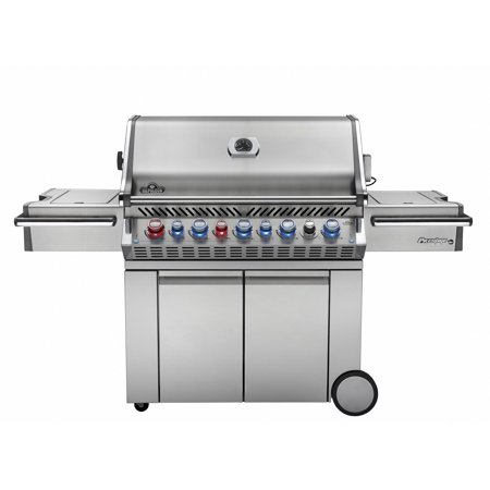 Napoleon Prestige Pro 665 Propane Gas Grill With Infrared Rear Burner And Infrared Side Burner