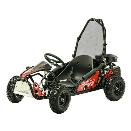 Coleman Powersports 100cc Gas Powered Go Kart - Red and Black