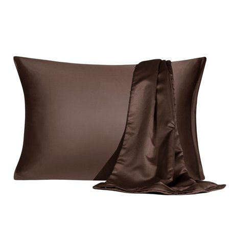 Satin Pillowcase With Zipper King Size Set Of 2 Silky