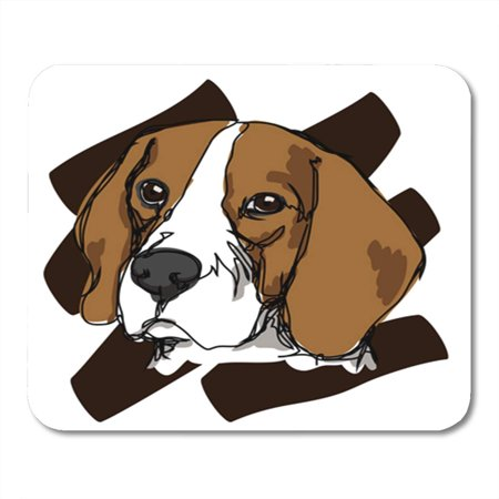 SIDONKU Face Draw Beagle Beautiful Cartoon Clipart Color Cute Dog Doodle Mousepad Mouse Pad Mouse Mat 9x10 (Face Clipart)