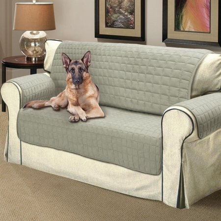 Faux Suede Loveseat Slip Cover Microsuede Water Resistant Quilted Pet Protector