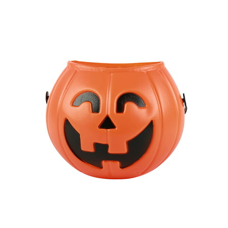 Decorate Halloween Party Cheap (Halloween Party Props Plastic Pumpkin Bucket Trick Cosplay Decor Pouch Halloween Lantern Home Shop Party Lovely Decorating)
