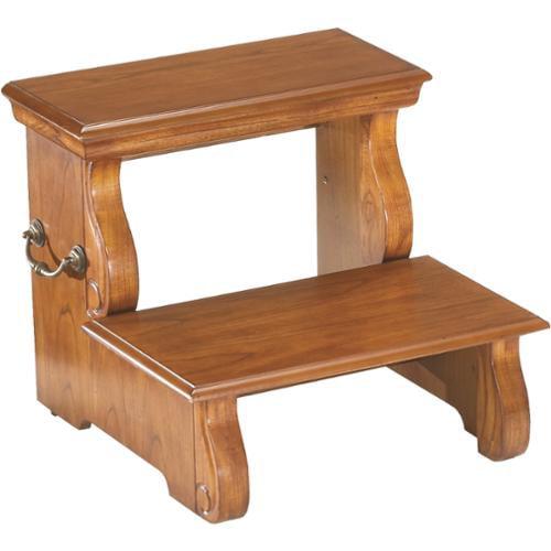 Wooden 2-stair Step Stool Oak Step Stool