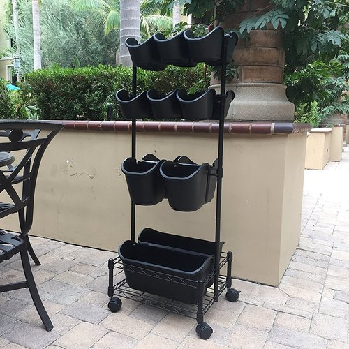 Watex Mobile Double Frame Plastic Vertical Garden
